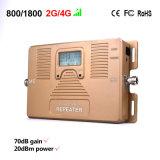 Le meilleur répéteur mobile de signal de téléphone cellulaire de la servocommande 2g 4G de signal des prix 800/1800MHz