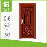 Cadres de porte de sécurité en acier pressé avec poignée de porte en acier