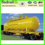 Carro del tanque de la carga del petróleo del ácido sulfúrico