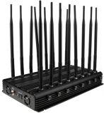 16 안테나 조정가능한 강력한 3G 4G 전화 방해기 & WiFi UHF VHF GPS Lojack RF 글로벌 버전의 모든 악대 신호 차단제