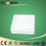 Luz del panel cuadrada superficial del LED Ctorch de aluminio 18W