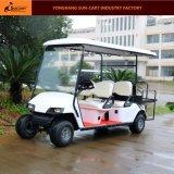 6人の乗客のセリウムの公認のホテルの電気ゴルフカート(後部背部折りたたみシート)