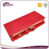 Самый лучший бумажник RFID Anti-Theft, бумажник дешевых женщин PU оптовой продажи кожаный Bifold