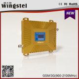Nouvelle conception à double bande de répétiteur de signal 900/2100MHz Signal Booster pour bureau à domicile
