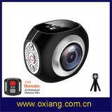 A lente dupla a mais nova câmera de um esporte de 360 graus