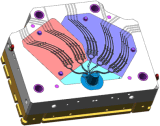 Алюминиевый инструмент заливки формы для части связи для электронного