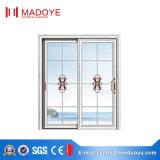 Раздвижная дверь самой последней конструкции Китая алюминиевая с конструкцией решетки