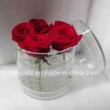 高品質の販売のためのアクリルの円形の花ボックス