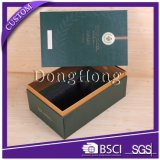 Caja de regalo de lujo del vino de la PU de lujo con insignia