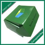 Livre vert de la surface imprimée Boîte en carton ondulé avec logo