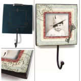 Old Style Kids Crafts Wood Hook & Cute Frame com ganchos de parede exclusivos