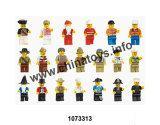 La Educación Infantil baratos Mini Puzzle de bloques de construcción de juguetes de plástico Regalo de Cumpleaños (1073313)