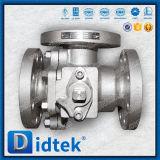 Фланец нержавеющей стали CF3m Didtek API 6D кончает шариковый клапан 3 дорог