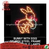 熱い販売防水可変性IP65 LEDのウサギのイースター装飾のための第2モチーフロープライト