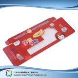 Rectángulo cosmético de empaquetado pila de discos plano barato impreso de la medicina del plegamiento (xc-pbn-003)