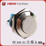 Schakelaar van de Drukknop van de anti-Vandaal van Ce RoHS van Hban (19mm) Vlakke Kortstondige Industriële