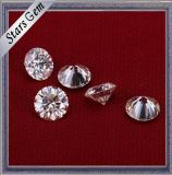 丸型の白いカラー6.5mmカラットの華麗な切口のMoissaniteの1個のダイヤモンド