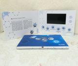 Tarjeta de felicitación video del jugador de la invitación de la pantalla enviable por correo de encargo del LCD para hacer publicidad