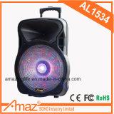 Verkaufsschlager 15 Zoll-Karaoke-Laufkatze-Lautsprecher mit Mikrofon