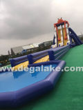 Corrediça de água inflável do Aqua do parque da água com piscina