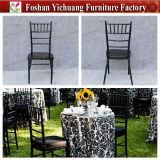 Yc-A172-4 Bom qualidade Metal Tube Black Wedding Tiffany Cadeiras