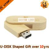 Привод вспышки USB кредитной карточки оптового навального подарка деревянный Bamboo
