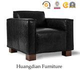 Sala de estar do átrio moderno mobiliário único Banco sofá de couro (HD529)