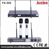 Radio professionnelle de microphone de fréquence ultra-haute actionnée par Chine de Fk-800 Digitals