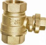 Válvula de verificación de cobre amarillo estándar de la cuerda de rosca femenina