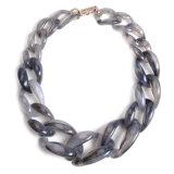 Bijou à chaînes acrylique de collier de foulard de mode grand