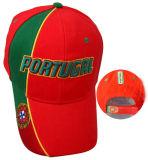 Gorra de béisbol cepillada del béisbol del casquillo del sándwich de la tela cruzada del algodón