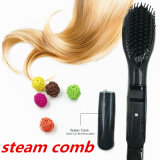 3D cerâmica Straight Comb Hair Brush Straightener Profissional Vapor Comb liso Frizzy cabelo Styling ferramentas Straightening Irons