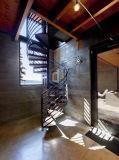 Escalier spiralé en bois en acier de mode moderne