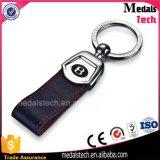 Cinghia di cuoio Keychain del ricordo di modo di marchio su ordinazione promozionale del metallo