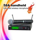 Handheld система микрофона UHF 58A беспроволочная