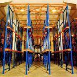 Conduzir no racking da pálete, racking resistente, movimentação no racking, movimentação nas cremalheiras, racking do quarto frio da pálete do armazenamento, racking do armazém