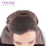 Pelucas rectas rizadas del pelo humano del frente del cordón de la densidad de Yvonne el 180% para el color natural del pelo brasileño de la Virgen de las mujeres negras