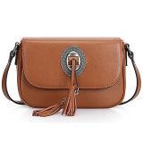 Neueste Entwurfs-echtes Leder-Handtasche mit Troddel-Dekoration Crossbody Schulter-Beuteln für Frauen Emg4914