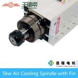 motore ad alta frequenza dell'asse di rotazione raffreddato aria 5.5kw con la flangia per la macchina per incidere di falegnameria di CNC