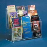 Acrylbroschüre-Halter zu organisierenden Flugschriften u. anderer gefalteter Information