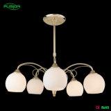 Iluminação clássica de lustre de vidro, lâmpadas de lustre