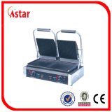 Fabricante de crepe eléctrico antiadherente, máquina de la crepe de la tapa del contador de la placa doble con el Ce para la venta