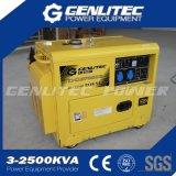 空気は冷却した5000ワットの無声ディーゼル発電機のポータブル(DG6700SE)を