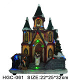 Het Huis van Kerstmis van de hars met het LEIDENE Dorp van Kerstmis