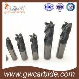 Flautas planas HRC60 del molino de extremo del carburo sólido 4