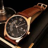 337 Mann-Form-Armbanduhr-wasserdichte Qualitäts-Quarz-Uhr