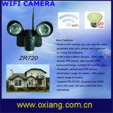 WiFi PIR luz de la cámara con la más reciente tecnología de seguridad de coche luces de monitor y función de alarma automática Zr720
