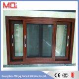 El bastidor de aluminio de doble ventana de vidrio de ventana deslizante