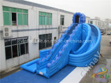 Trasparenza di acqua gonfiabile gigante blu con la piscina per i bambini