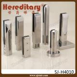 安全Framelessのステンレス鋼の栓(SJ-H927)が付いているガラスバルコニーの柵